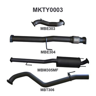 Hilux KUN26R 3.0L D4D 3in Muffler NO Cat