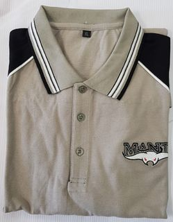 POLO SHIRT GREY & BLACK EMBROIDERED - M