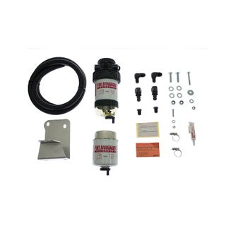 Toyota Landcruiser VDJ 70 Series Fuel Manager Fuel Pre Filter Kit (radiator mount, fits with dual ba