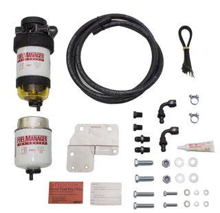 Nissan Patrol GU 4.2L & 3.0L Fuel Manager Fuel Pre Filter Kit, mounts on driver's side