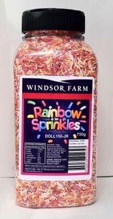 Sprinkles Rainbow Natural 750gmJarFrutex