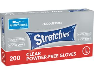 Gloves Stretchies Large Powder Free 200