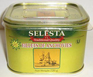 "Anchovie Fillets ""Selesta"" 690gm tin"