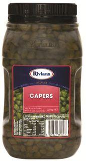 """Capers 2.1kg Jar """"Riviana"""""""