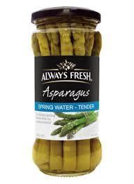 """Asparagus Spears """"Always Fresh"""" 340gmJar"""