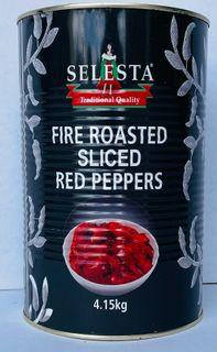 Peppers SLICED Strips Red FRoast4.1kgTin