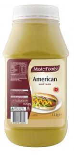 """Mustard American """"Masterfoods"""" 2.5kg"""