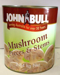 """Mushrooms Pieces & Stems A10 tin """"JBull"""""""