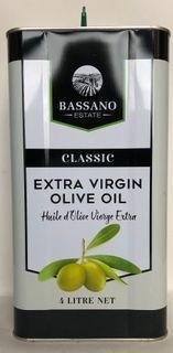 "Olive Oil Classic Extra Virgin 4Lt""Bassa"