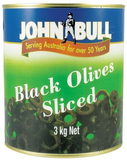 Olives Sliced Black 3kg A10 tin