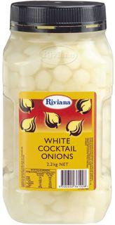 "Onions Cocktail White 2.2kg Jar ""Riviana"