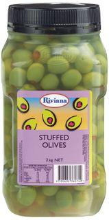 """Olives Stuffed 2kg Jar """"Riviana"""""""