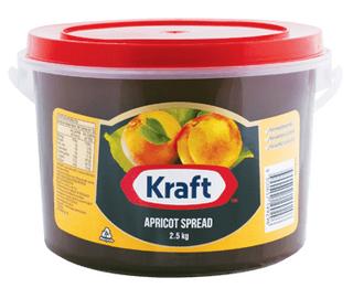 "Apricot Spread/Jam ""Kraft"" 2.5kg tub"
