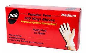 Gloves Vinyl Medium Powder Free 100