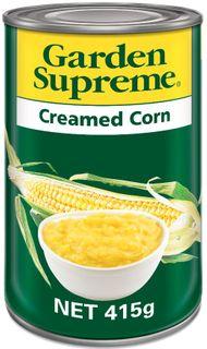 "Corn Creamed ""GardenSupreme"" 415gm tin"