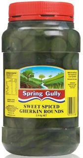"Gherkin Rounds 2.2kg Jar ""Spring Gully"""