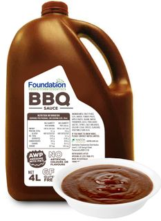 "BBQ Sauce ""Foundation"" 4Lt Glut Free"