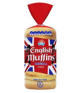 "Muffins English 400gm ""Tip Top"" 6pk"