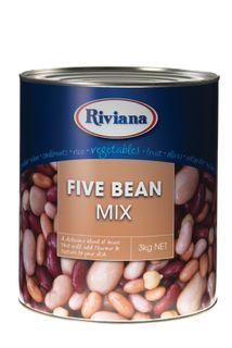 "Beans 5 Bean Mix ""Riviana"" A10 tin"