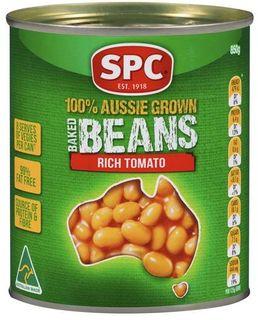 "Beans Baked ""SPC"" 220gm tin"