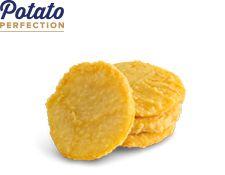 """Potato Cakes """"Potato Perfection"""" Formed"""
