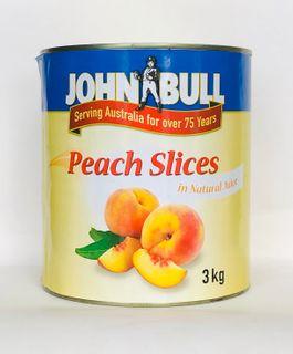 "Peaches Sliced A10 tin ""John Bull"""