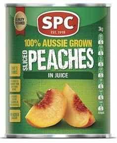 """Peaches Sliced """"SPC"""" A10 tin"""