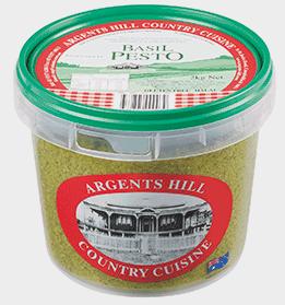 "Pesto Basil 1kg Tub ""Argents Hill"""