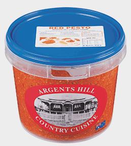 """Pesto Tomato 1kg Tub """"Argents Hill"""""""