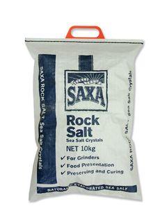 """Rock Salt """"Saxa"""" 10kg bag"""