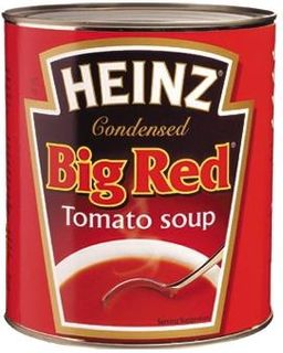 "Soup Tomato Big Red ""Heinz"" A10 tin"