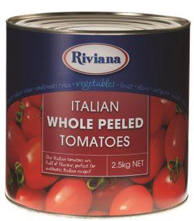 "Tomato Whole Peeled ""Riviana"" A10 tin"