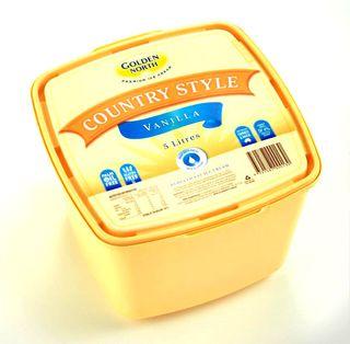 "Ice Cream ""GNorth"" Vanilla 5Lt YELLOWTUB"