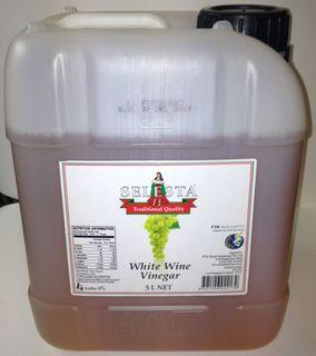 """Vinegar White Wine 5Lt """"Selesta"""""""