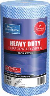 Wipes Heavy Duty Roll 530x300mm Blue