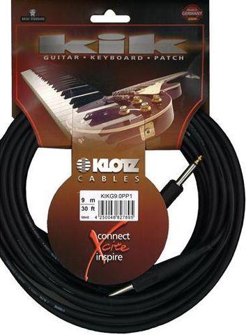 Klotz 9m Black KIK Guitar Cable