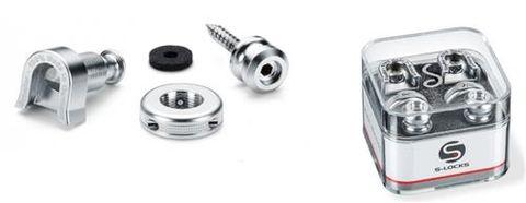 Straplock by Schaller - Chrome S-Locks