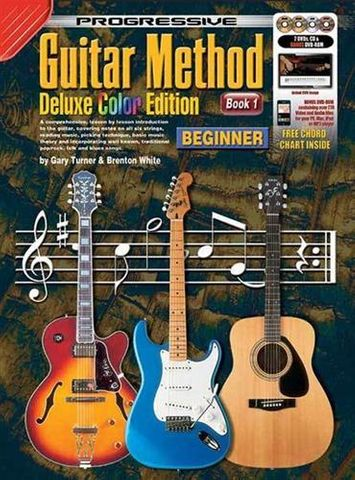 Progressive Guitar Method Book 1 Dlx Col
