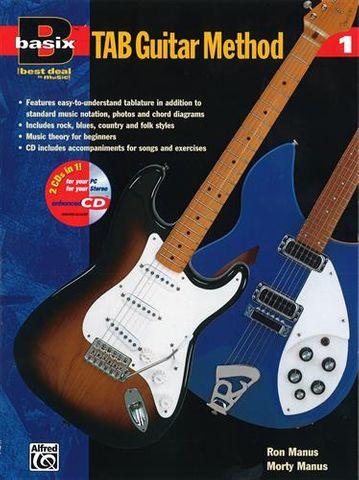 Basix:TAB Guitar Method Bk 1 (Bk/ECD)