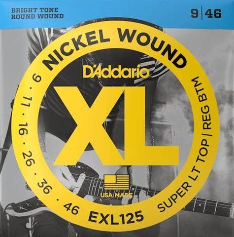 D'Addario EXL125 Lt/Reg El Strings 9-46