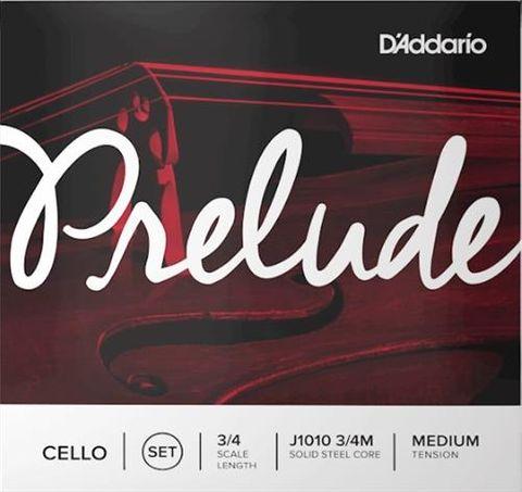 D'Addario 3/4 Prelude Cello Strings Med
