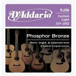 D'Addario EJ26 11-52 CustLight Strings