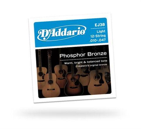 D'Addario EJ38 12 String Lite 10-47