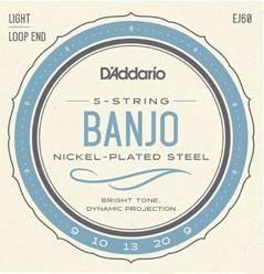 D'Addario J60 5 String Banjo Strings LT