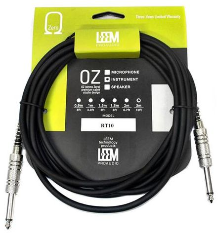 LEEM 10 Foot Guitar Cable