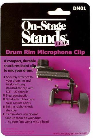 Onstage OSDM01 Drum  Rim Mic Clip