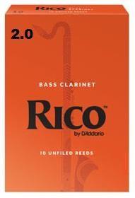 Rico 2 Bass Clarinet Reeds