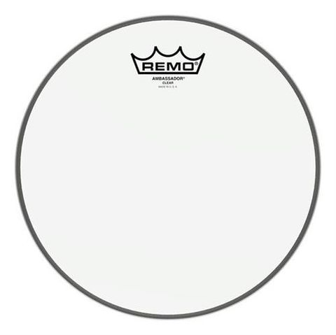 Remo 22in Ambass Clear BD Skin
