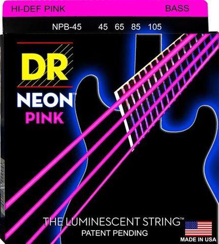DR NPB-45 Hi-Def NEON PINK Bass Strings