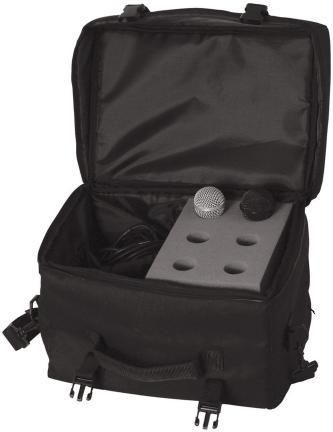 Onstage Mic Bag Holds 6 Microphones